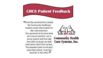 CHCS Patient Feedback